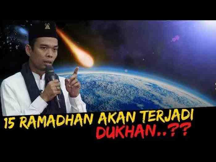Benarkah Dukhan adalah Tanda-tanda Kiamat? Begini Penjelasan Ustad Abdul Somad