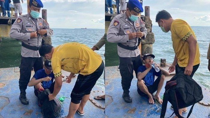 Pria Nekat Berenang dari Balikpapan ke Malang Pakai Dua Galon, 'Saya pengen pulang'