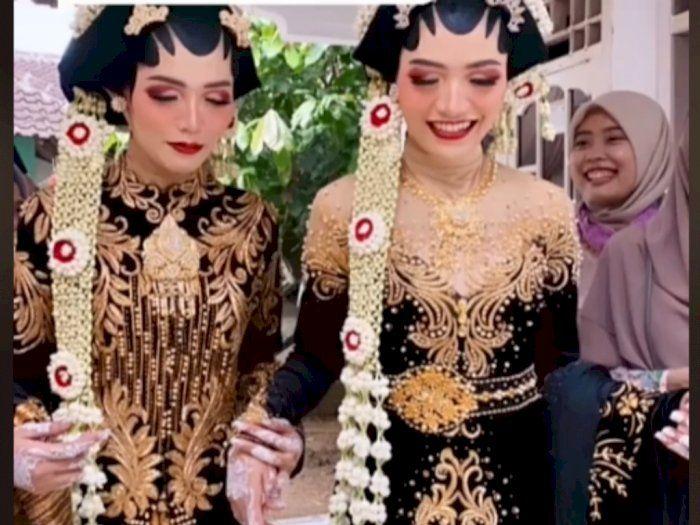 Kocak, Pernikahan Wanita Kembar, Mempelai Pria Bingung Tak Bisa Bedakan