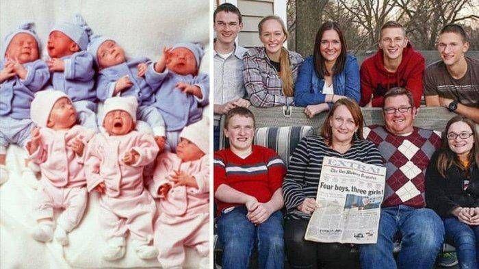 Sempat Viral, Ibu Lahirkan 7 Bayi Kembar, Ini Potretnya Setelah Beranjak Dewasa