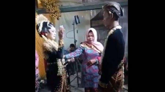 Viral, Video Prosesi Pernikahan Adat Jawa, Istri Dibikin Bad Mood Suami