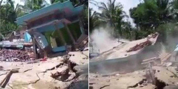 Tanah Ambles, Begini Detik-detik Rumah Roboh, Kerugian Ditaksir Ratusan Juta