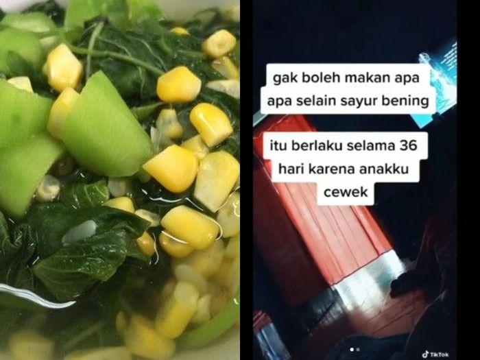 Nyesek, Baru Melahirkan, Menantu ini Hanya Diijinkan Makan Sayur Bening oleh Mertua