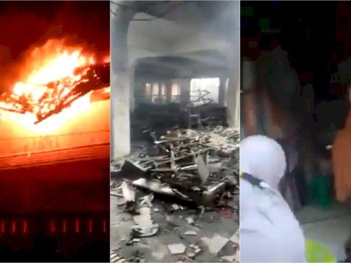 Takjub, Toko Barang Muslimah Tak Tersentuh Kebakaran Besar di Pasar Weleri