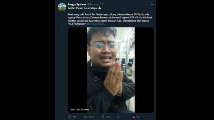 Viral, Anak Rantau Nangis dan Mohon-mohon agar Laptop 16 Juta yang Dicuri Dikembalikan