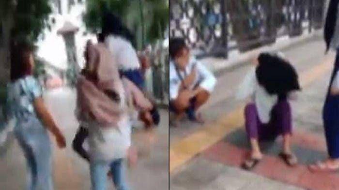 Miris, Remaja Putri Dibully Habis-habisan di Alun-alun, Dipukul dan Ditendang Berkali-kali