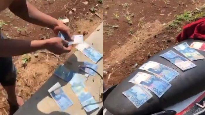 Gempar, Uang 23 Juta Berserakan di Selokan, Pemilik Akui Ikhlas Jika Diambil Warga