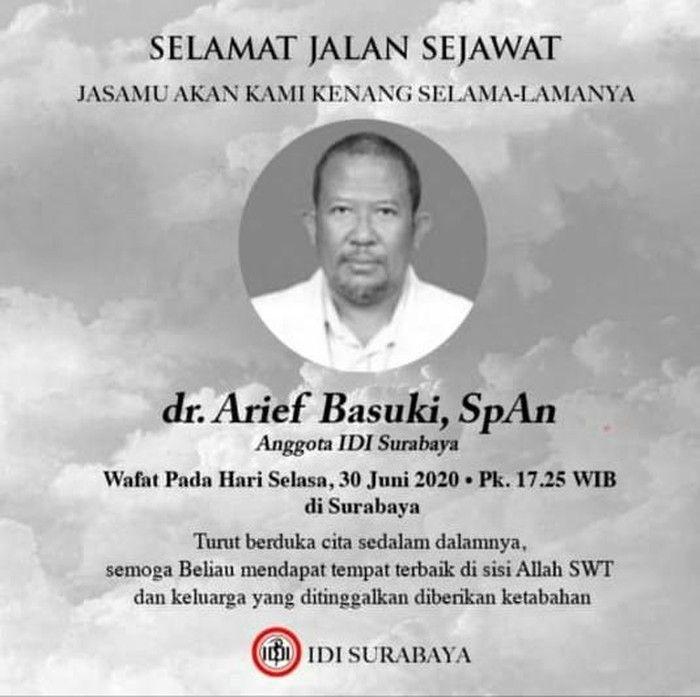 Perlu Waspada, Dokter di Surabaya ini Meninggal Walau Baru Seminggu Positif Corona