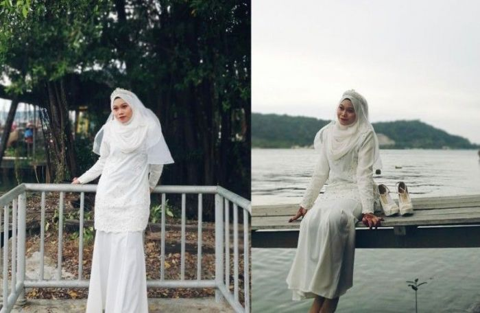 Pilu, Mempelai Wanita Berfoto Sendirian, Ungkap Kisah Perselingkuhan Calon Suami
