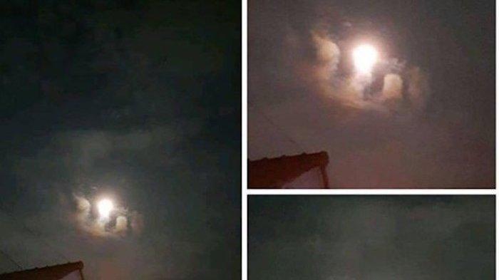 MasyaAllah, Awan BerLafadz Allah Muncul Saat Supermoon di Tengah Isu Kiamat 15 Ramadhan