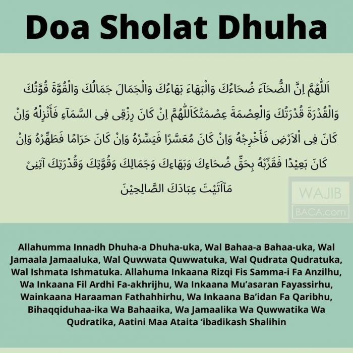 Panduan Lengkap Doa Sholat Dhuha Arab, Latin Serta Tata Caranya