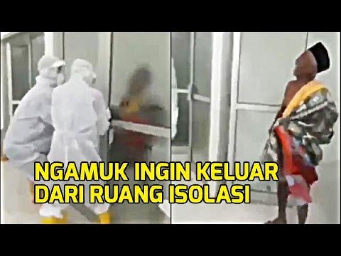 Viral Kakek Berstatus PDP Ngamuk Hingga Dobrak Pintu Tak Mau Diisolasi