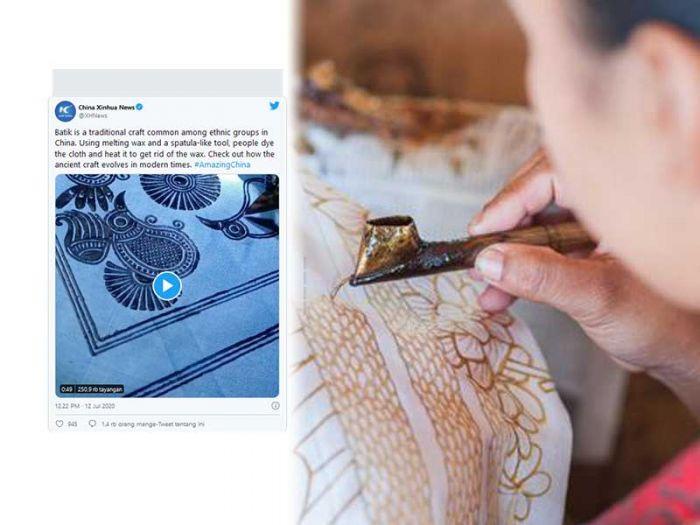 Heboh, Media China Klaim Batik Berasal dari China, Warganet Ngamuk di Twitter