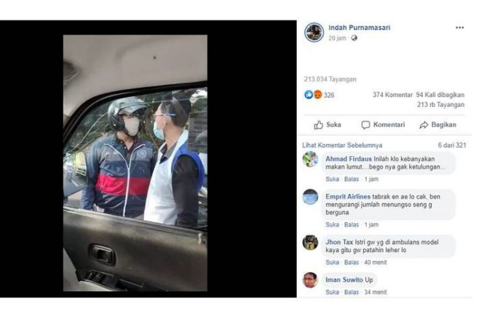 Viral, Detik-detik Pemotor Nekat Hadang Ambulans, Kesal karena Motor Disenggol