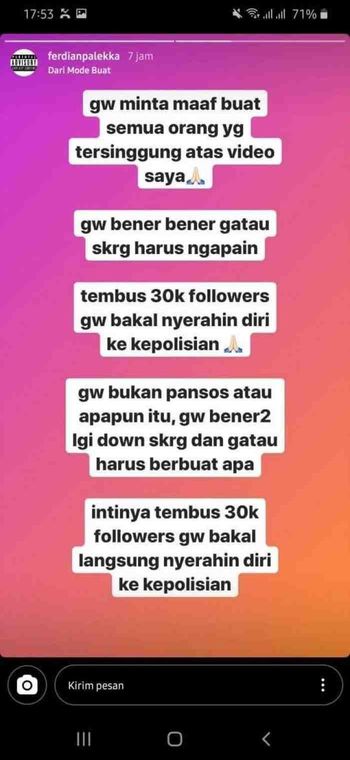 Youtuber Prank Sembako Sampah Mau Serahkan Diri ke Polisi Asalkan Followersnya Tembus 30 Ribu